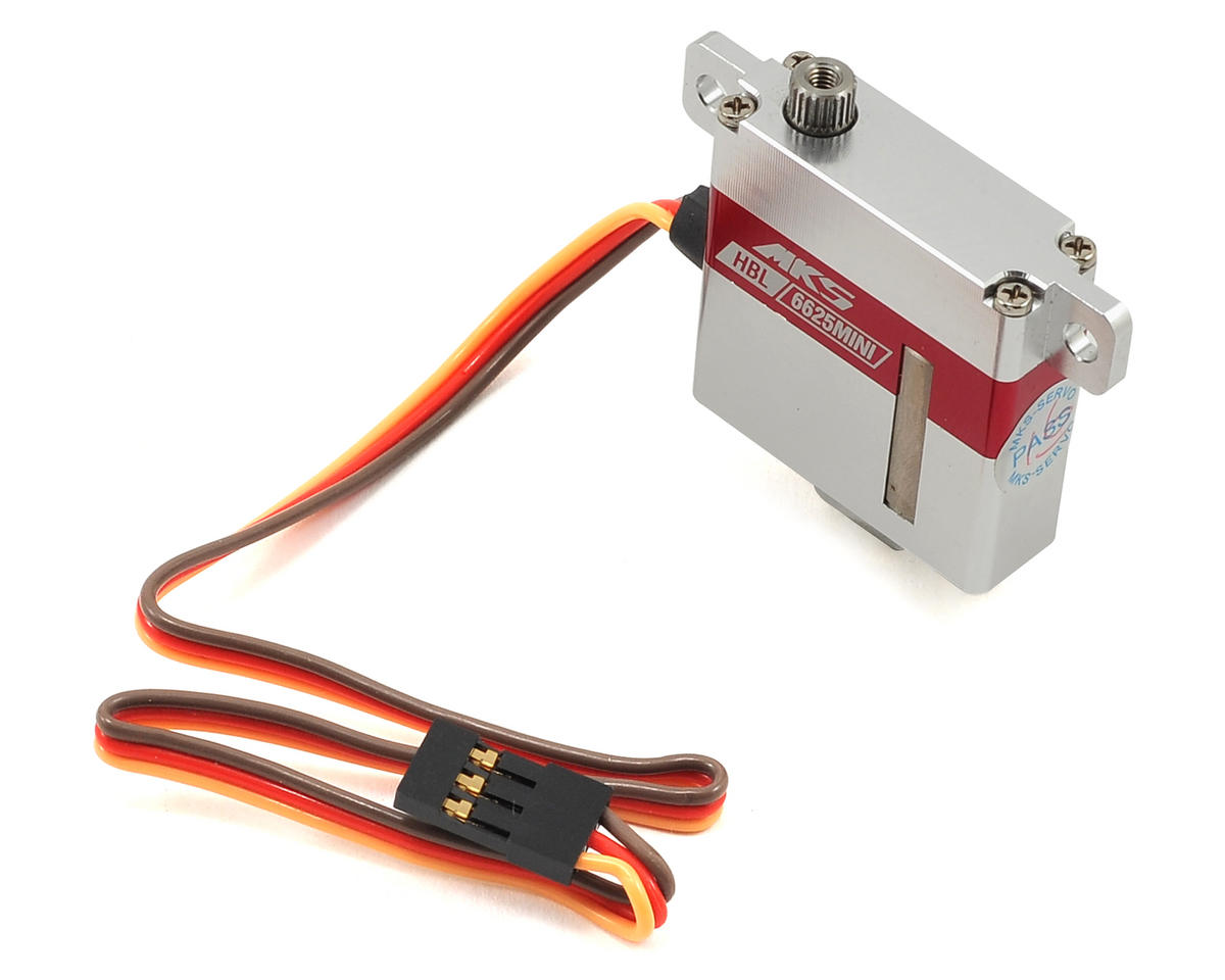 MKS Servos HBL6625 Mini Titanium Gear Glider Wing Servo w/Aluminum Case (High Voltage)