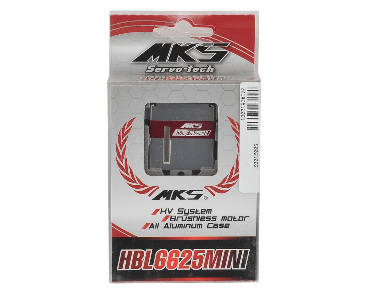 MKS HBL6625 Mini Titanium Gear Glider Wing Servo w/Aluminum Case (High Voltage)