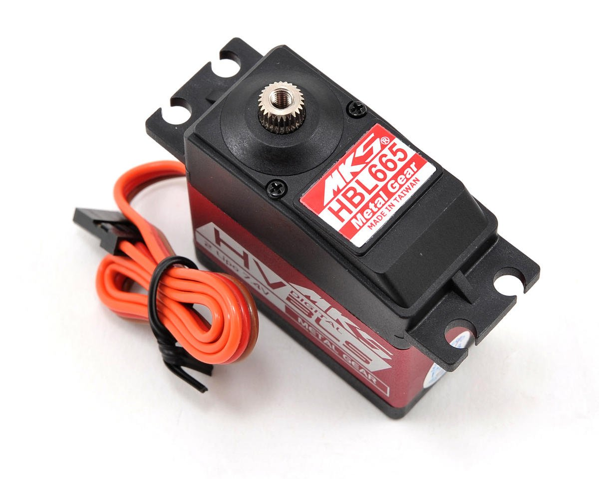 HBL665 Brushless Ti-Gear High Torque Digital Cyclic Servo (High Voltage) by MKS