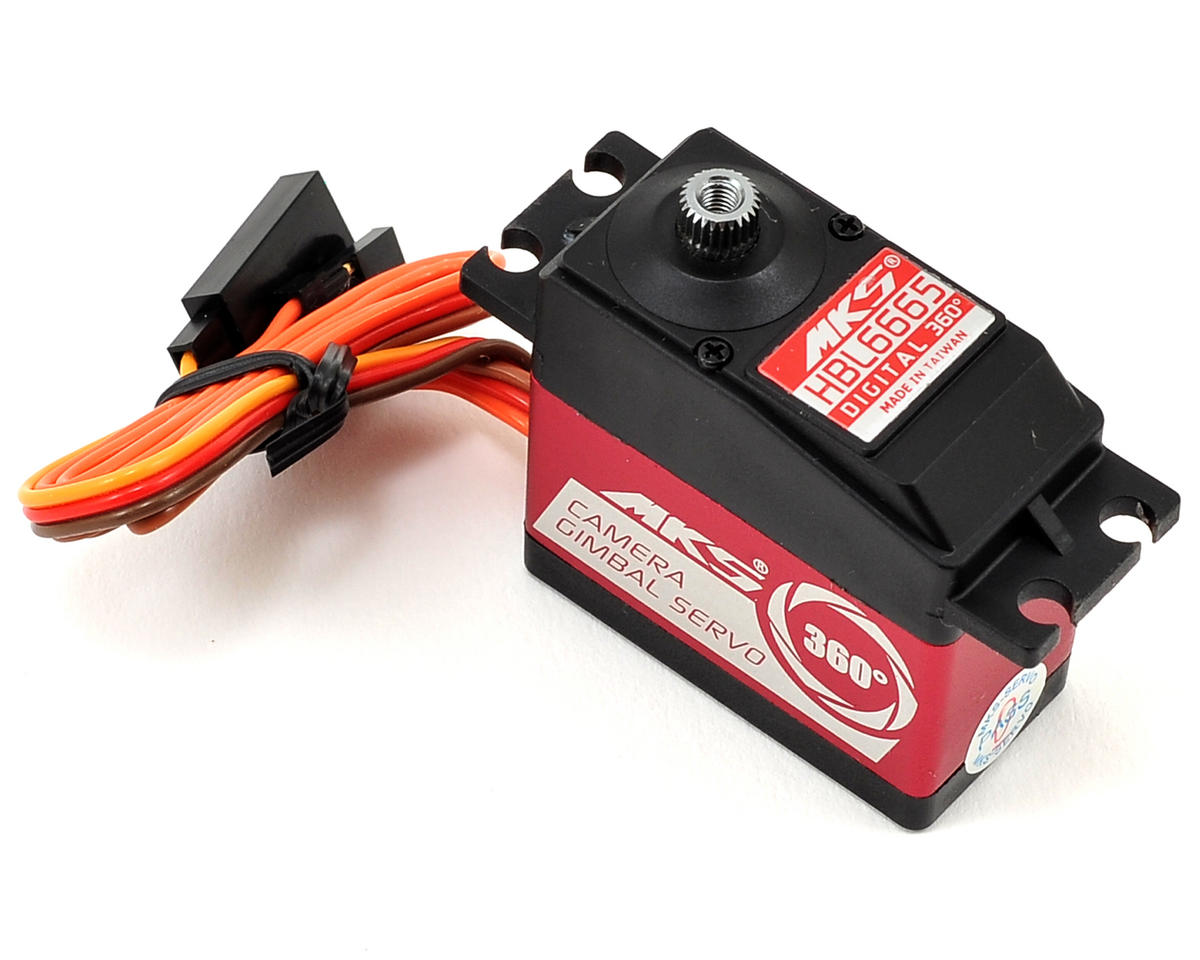 MKS HBL6665 Brushless Ti-Gear Continuous Rotation Digital Servo (High Voltage)