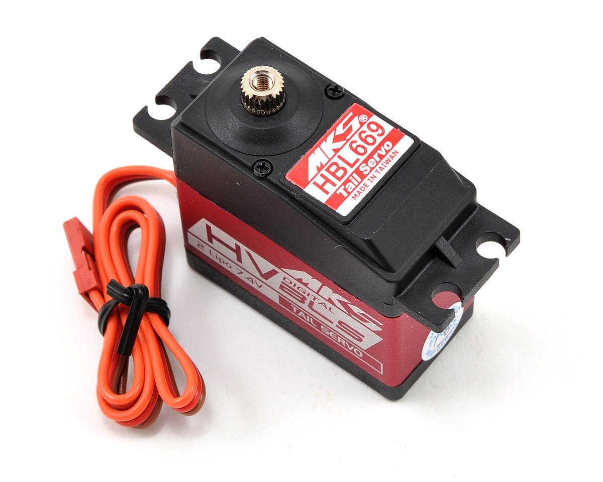 HBL669 Brushless Titanium Gear High Speed Digital Tail Servo (High Voltage) by MKS