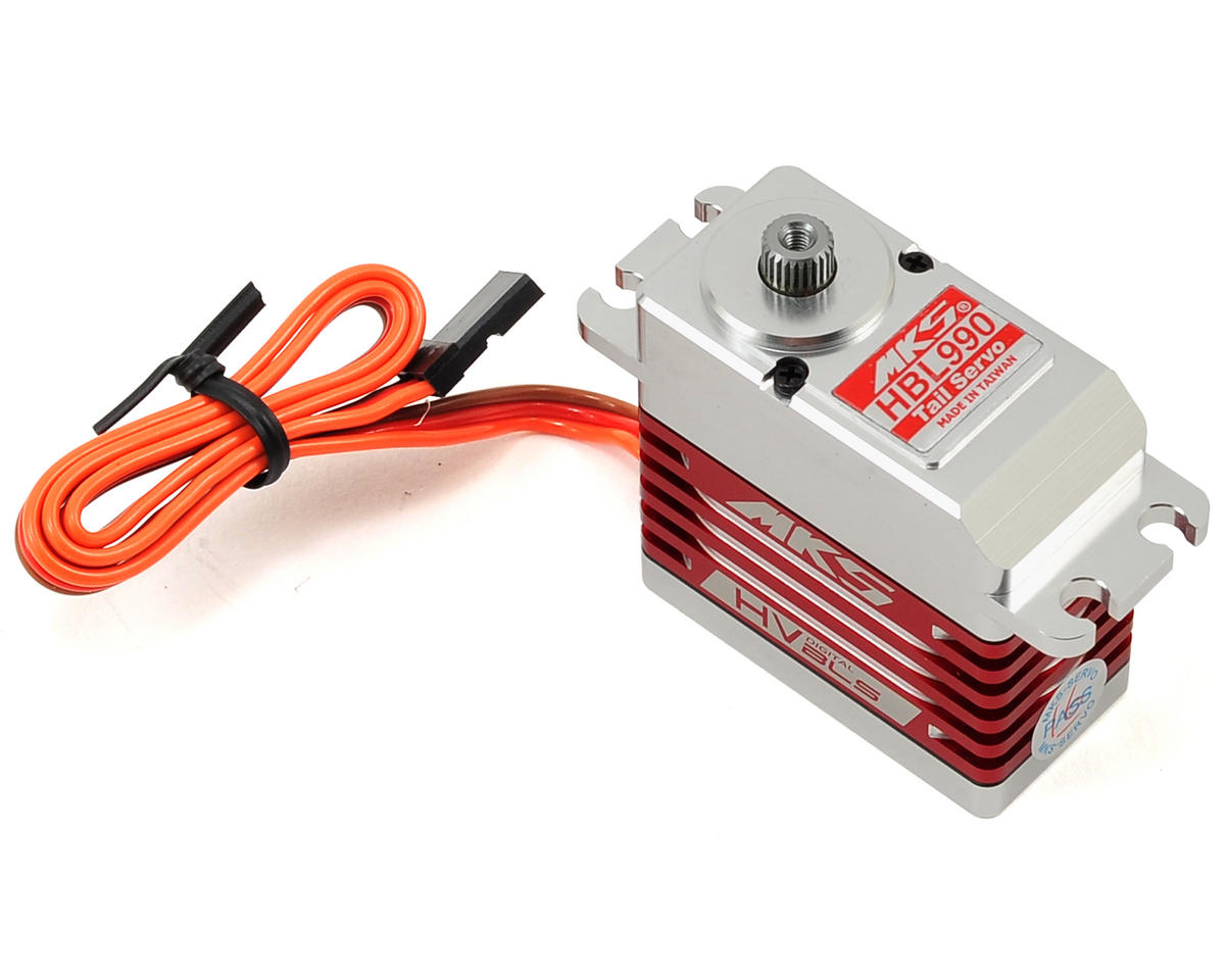 HBL990 Brushless Titanium Gear High Speed Digital Tail Servo (High Voltage) by MKS