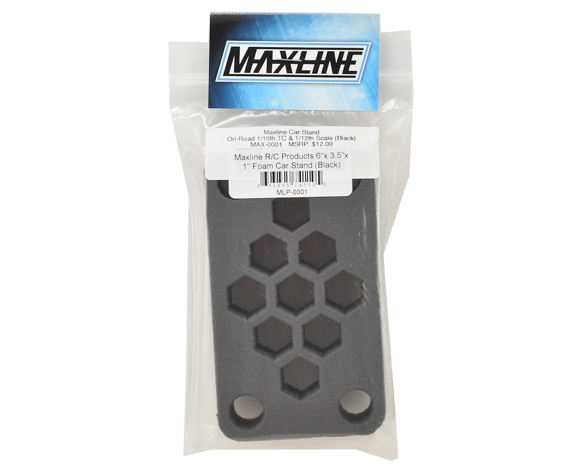 "Maxline R/C Products 6x3.5x1"" Foam Car Stand (Black) (1/10 TC & 1/12)"