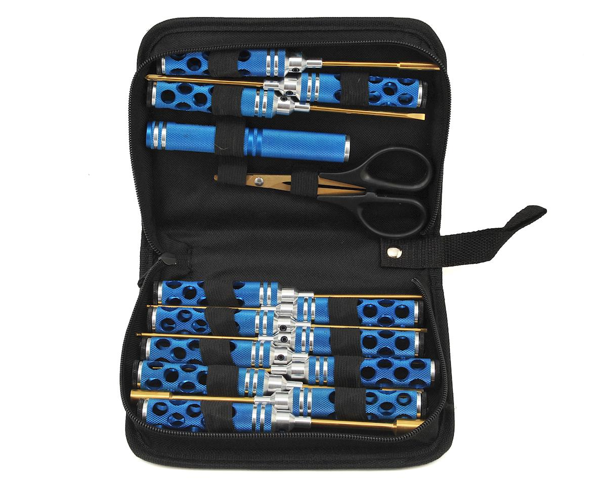 14 Piece Honeycomb Tool Set w/Case (Blue) by Maxline R/C Products