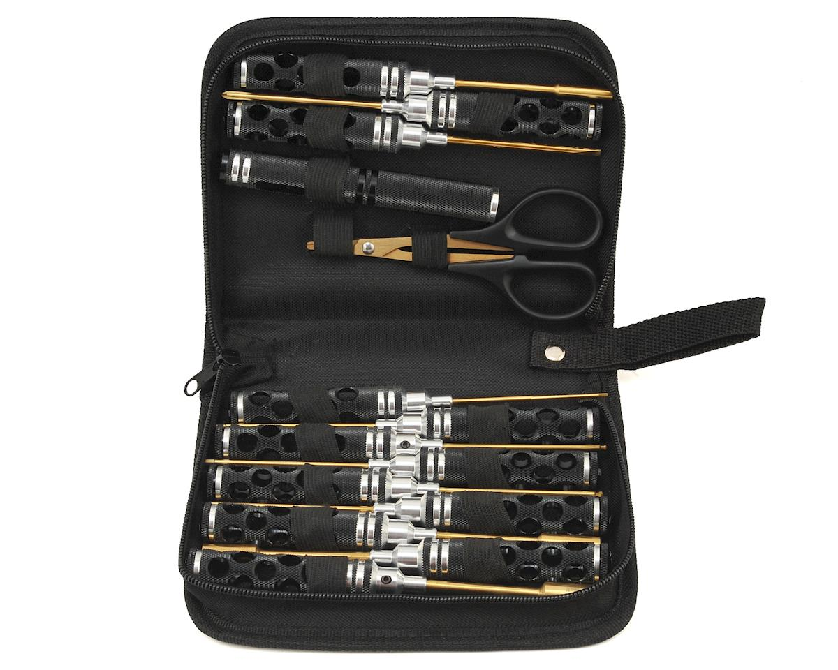 14 Piece Honeycomb Tool Set w/Case (Black) by Maxline R/C Products