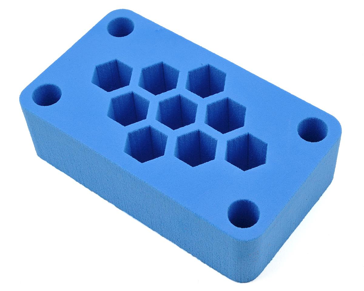 "7x4x2"" Foam Car Stand (Blue) (1/10 Off Road) by Maxline R/C Products"
