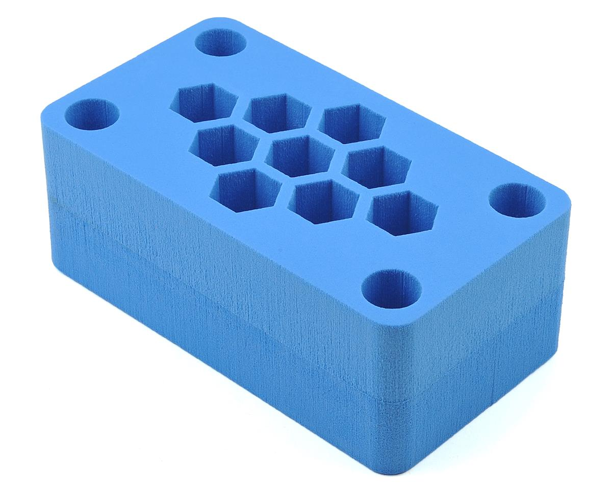 "8x4.5x3"" Foam Car Stand (Blue) (1/8 Buggy) by Maxline R/C Products"