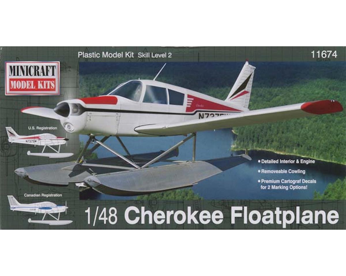 Minicraft Models 1/48 Piper Cherokee Float Aircraft