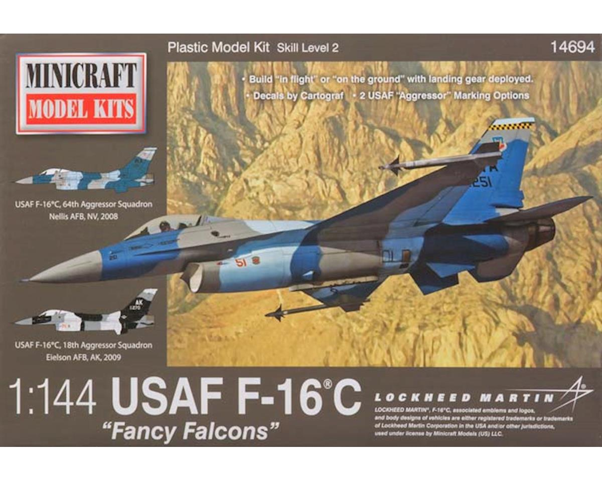 Minicraft Models 14694 1/144 F-16 USAF Fancy Falcons w/3 Marking Options