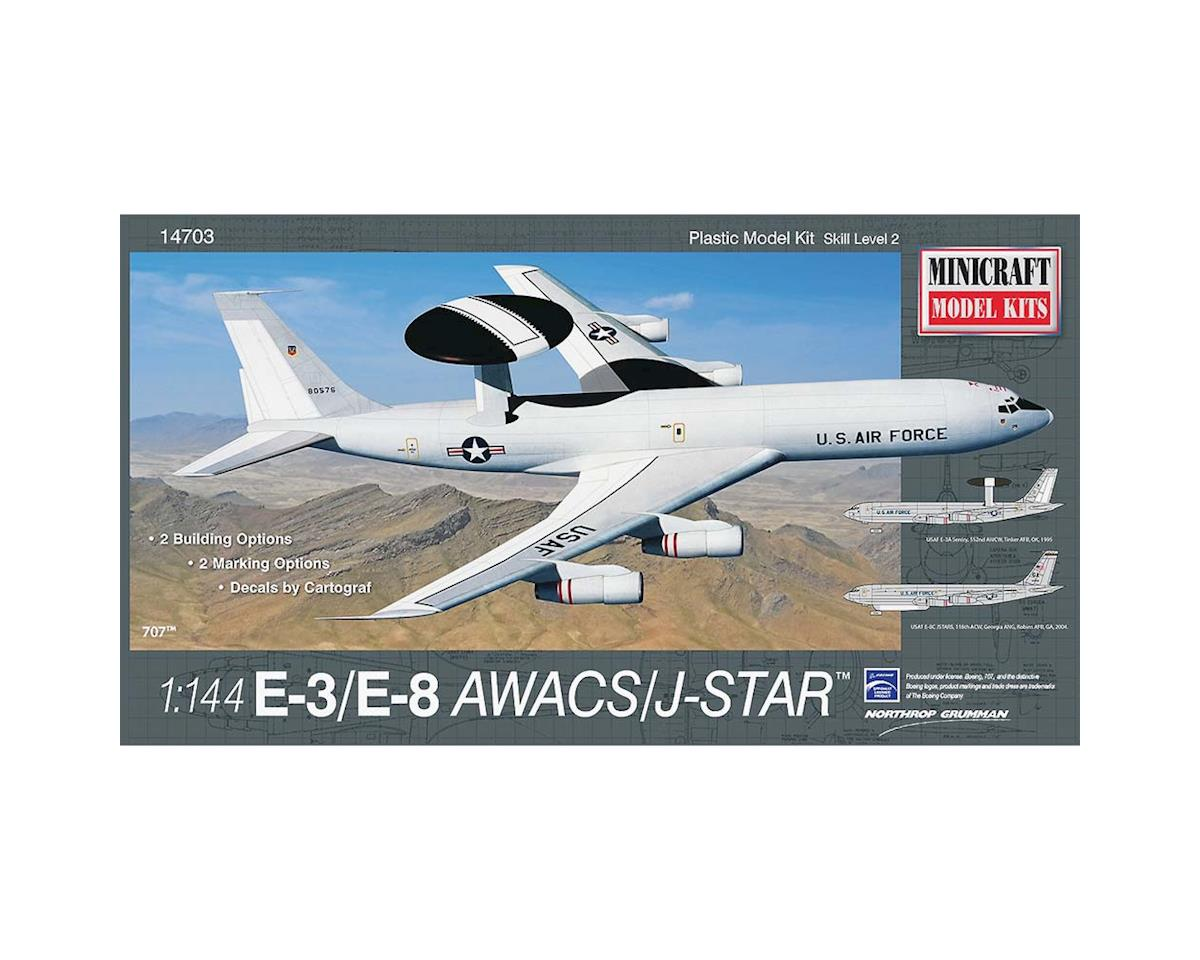 Minicraft Models 14703 1/144 E-8 AWACS/Joint Star w/2 Marking Options