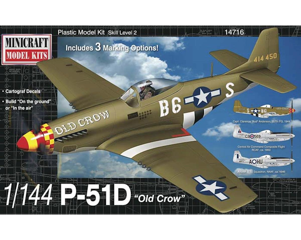 Minicraft Models 14716 1/144 P-51D Old Crow w/3 Marking Options