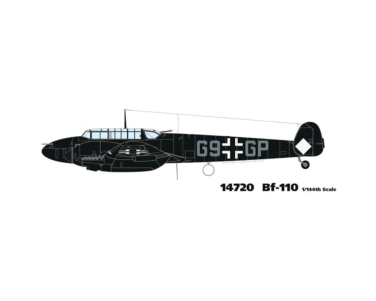 14720 1/144 Bf-110 Messerschmitt w/2 Marking Options by Minicraft Models