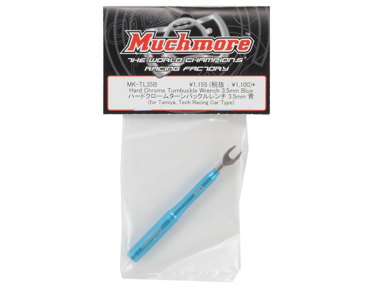 Muchmore Racing 3.5mm Hard Chrome Turnbuckle Wrench (Blue)