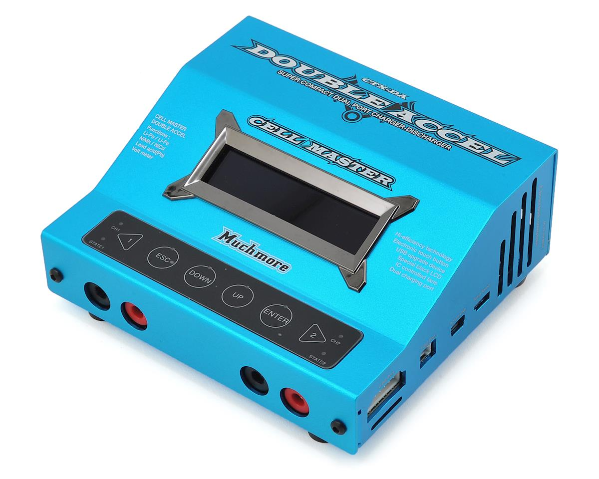 Muchmore Racing Cell Master Double Accel DC Battery Charger (Blue)
