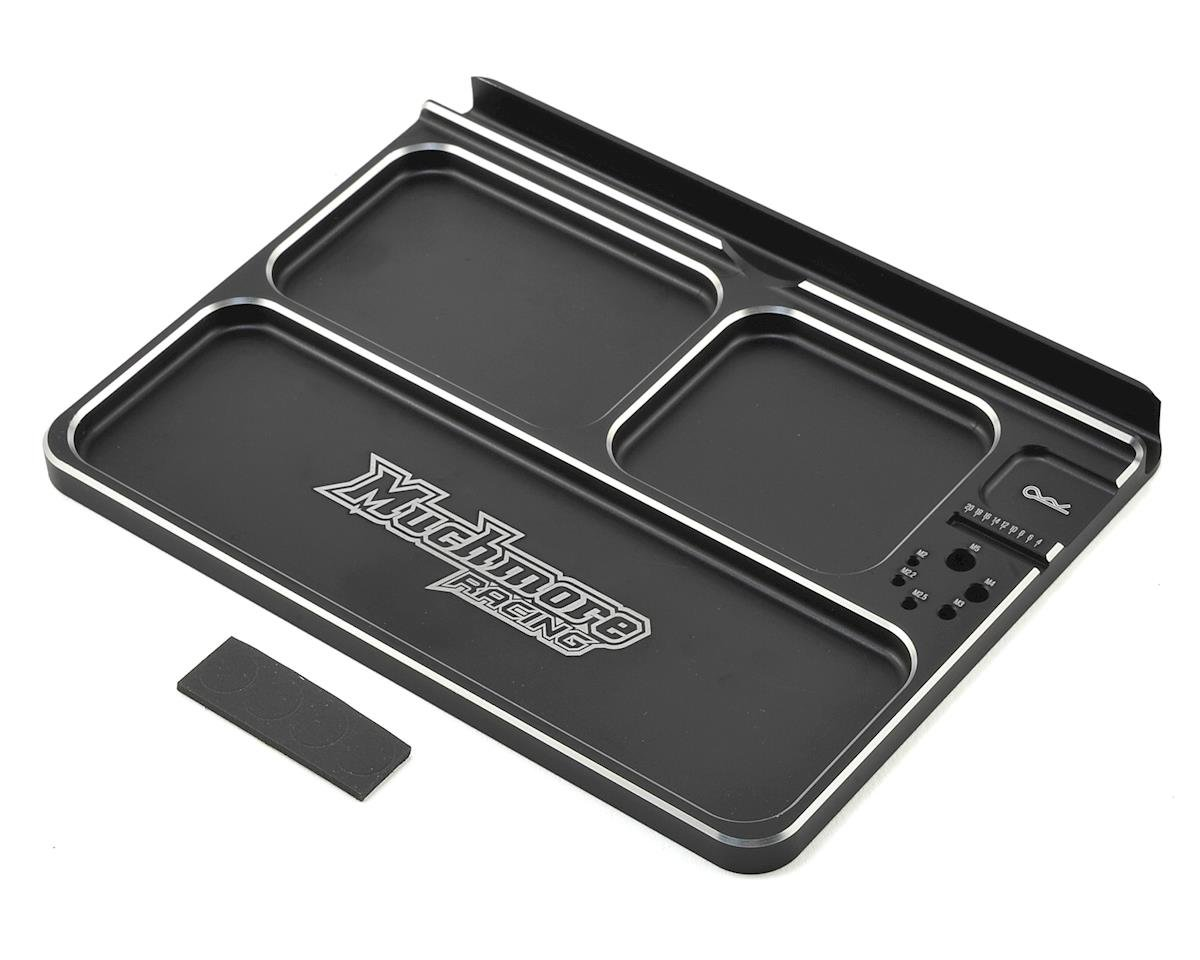 Luxury Aluminum Part Tray 3 (Black) by Muchmore Racing