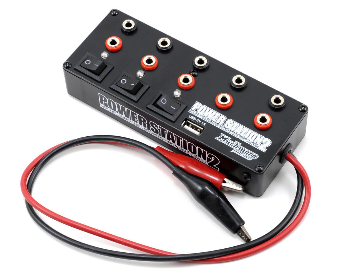 Muchmore Racing Power Station 2 Multi-Distributor Box w/USB (Black)