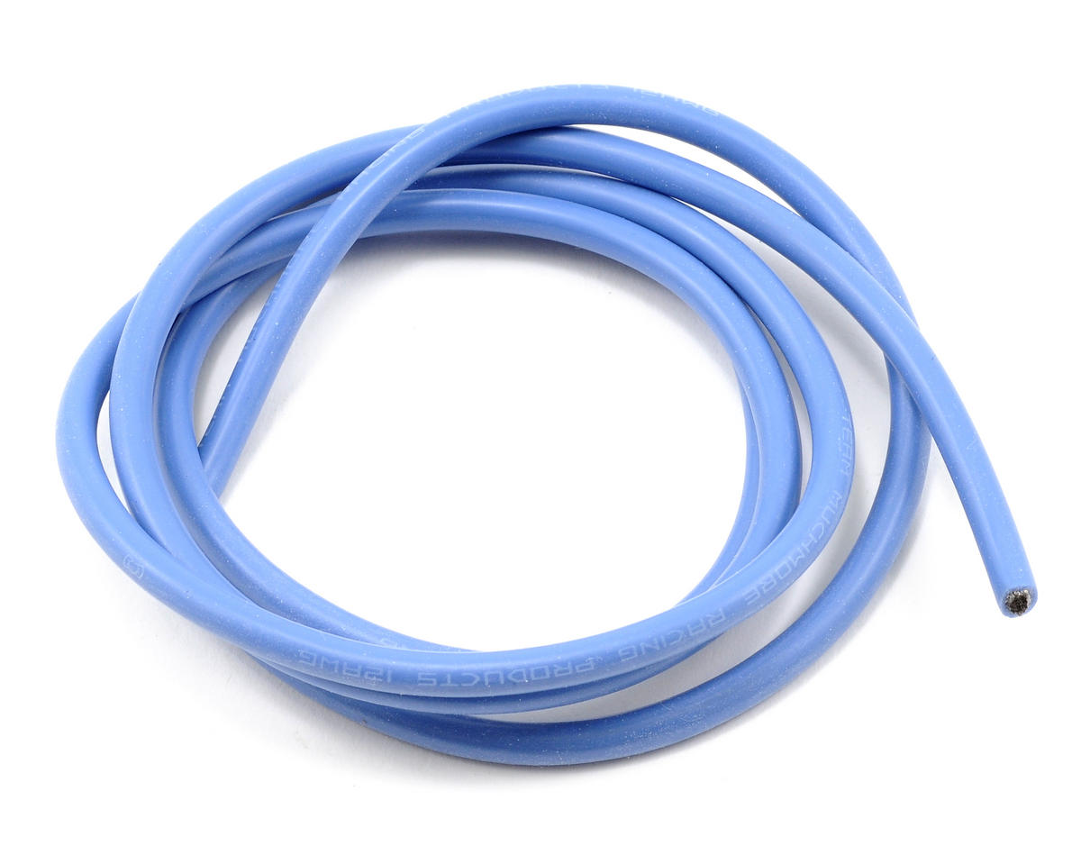 Muchmore Racing 12awg Silver Wire (Blue) (90cm)
