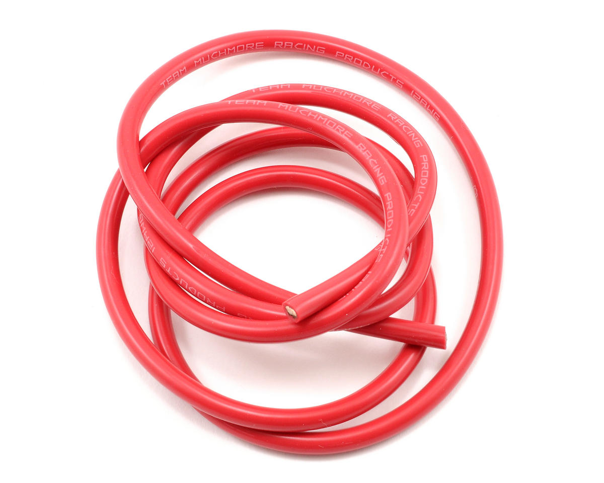 Muchmore Racing 12awg Silver Wire (Red) (90cm)