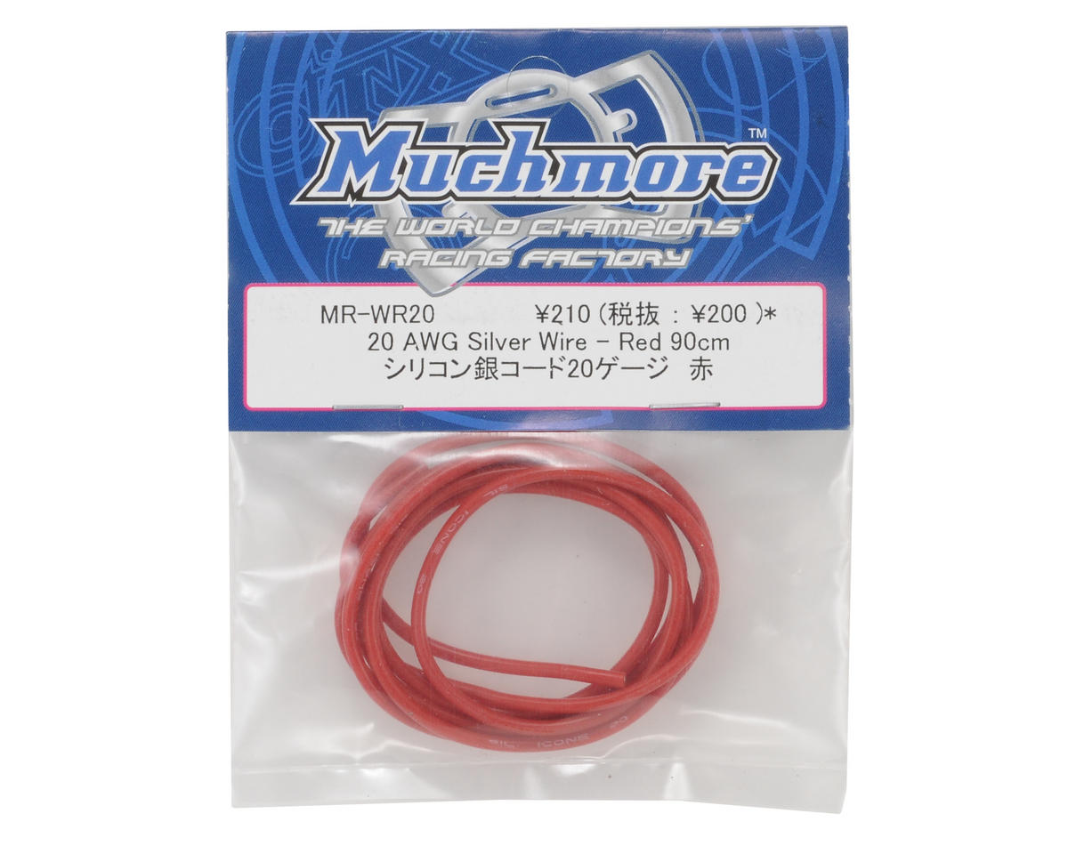 Muchmore Racing 20awg Silver Wire (Red) (90cm)