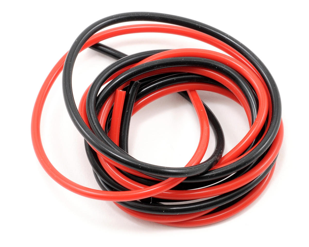 Muchmore Racing 18awg Silver Wire Set (Red/Black) (180cm)