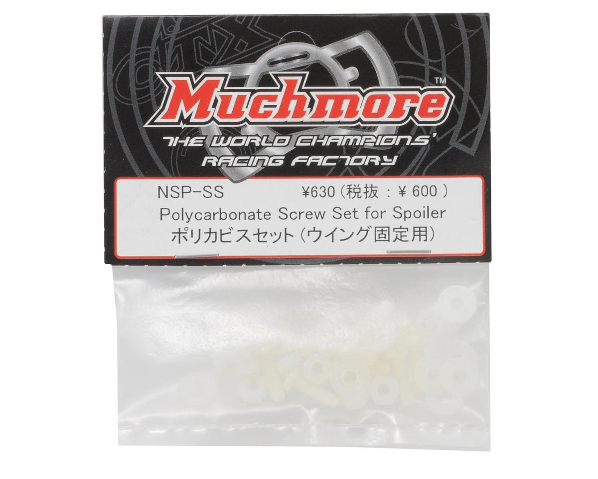 Muchmore Racing Polycarbonate Rear Wing Screw Set