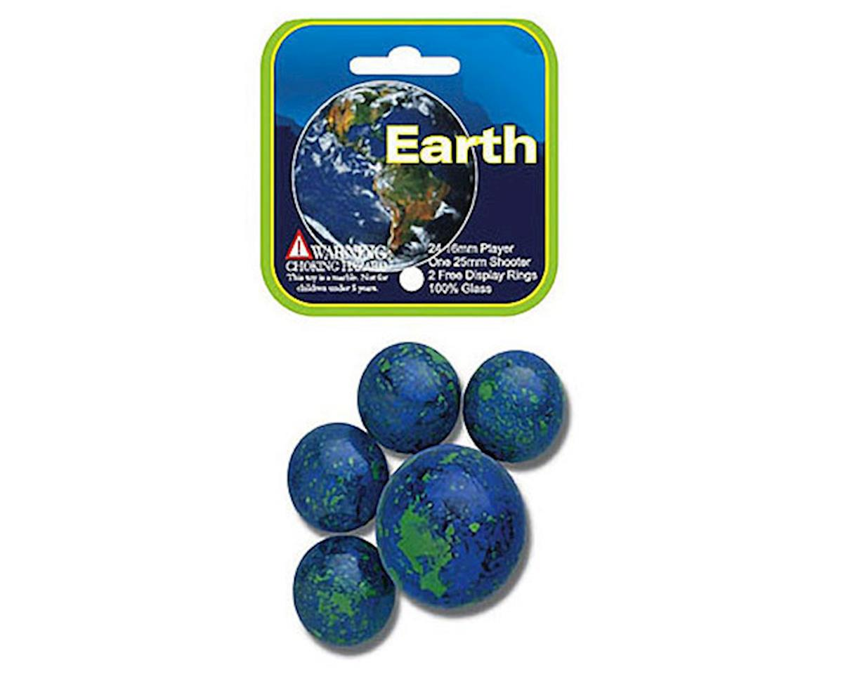 Earth Marbles 24 + 1 by Mega Marbles
