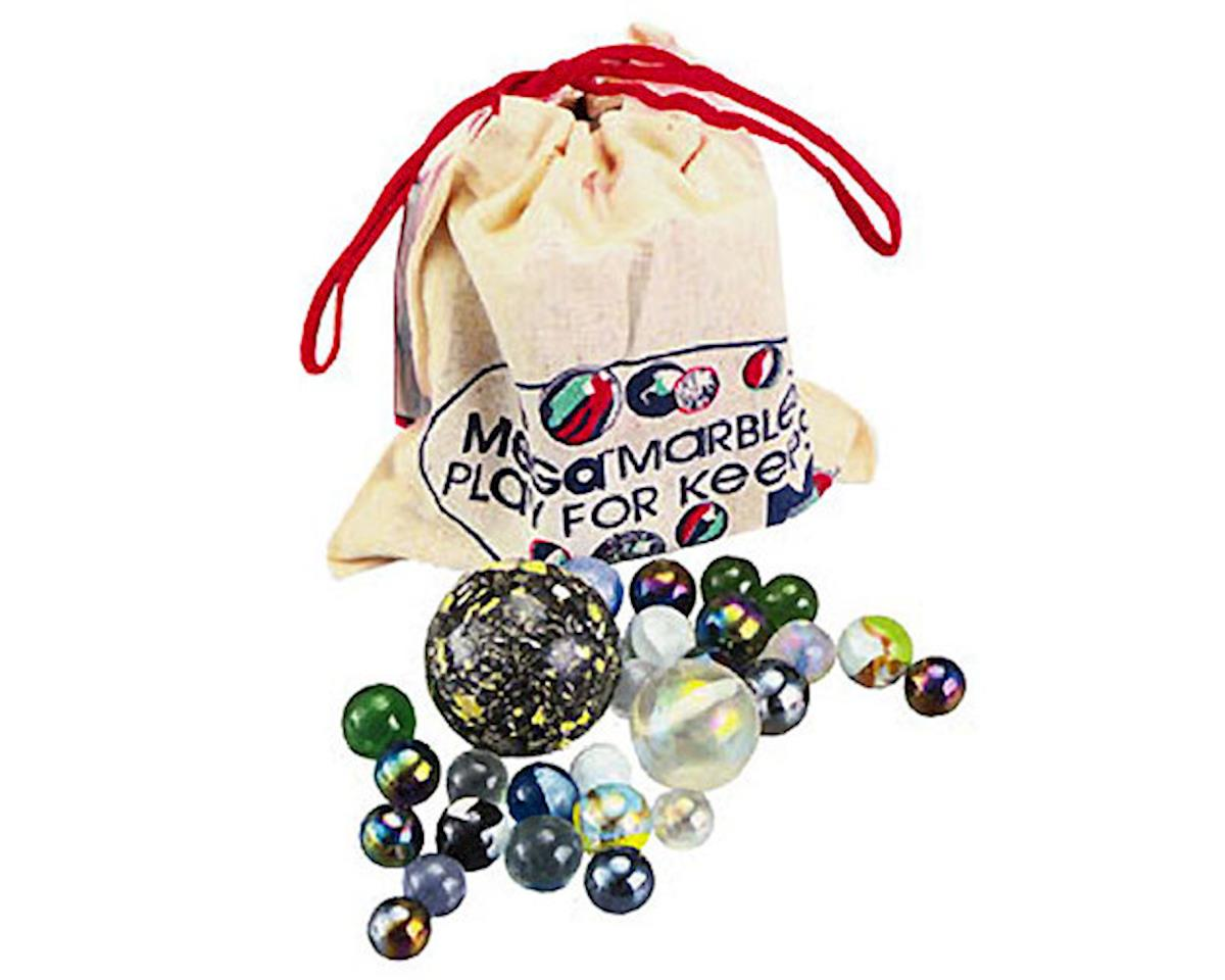 Muslin Pouch With Marbles & Game Rules by Mega Marbles