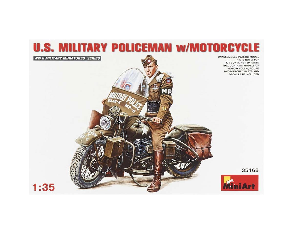 35168 1/35 US Military Policeman w/Motorcycle by MiniArt