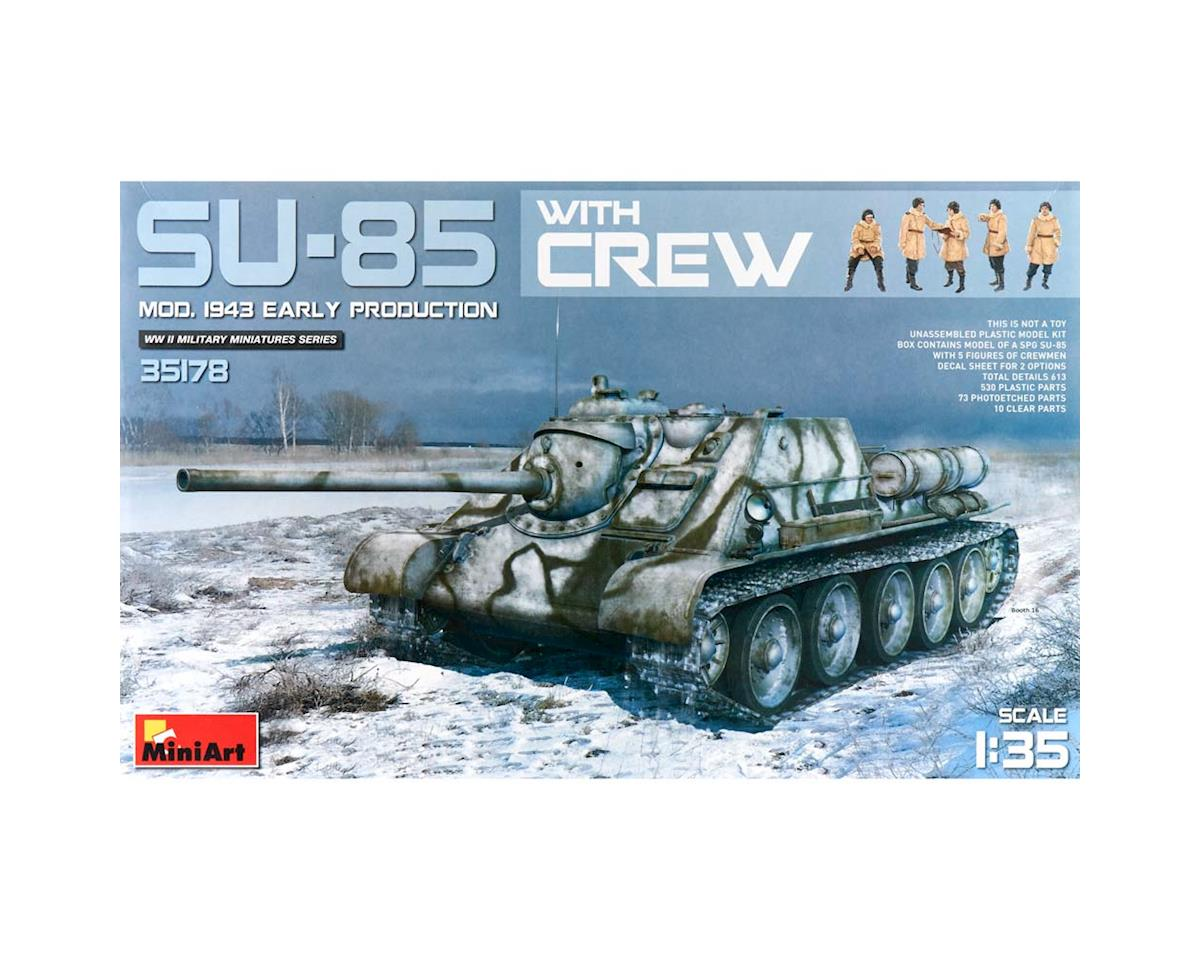 35178 1/35 Su85 Mod 1943 Early Prod. Tank w/5 Crew by MiniArt