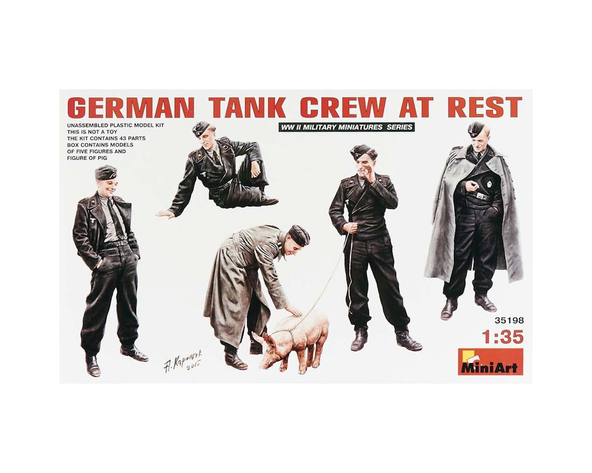 35198 1/35 German Tank Crew At Rest (4) by MiniArt