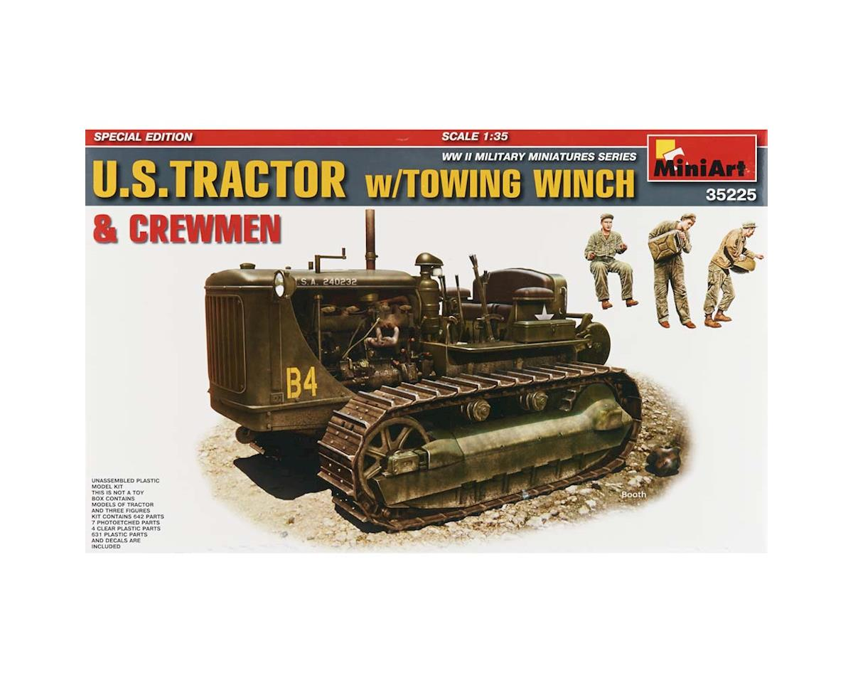 35225 1/35 US Tractor w/Tow Winch/Figures by MiniArt