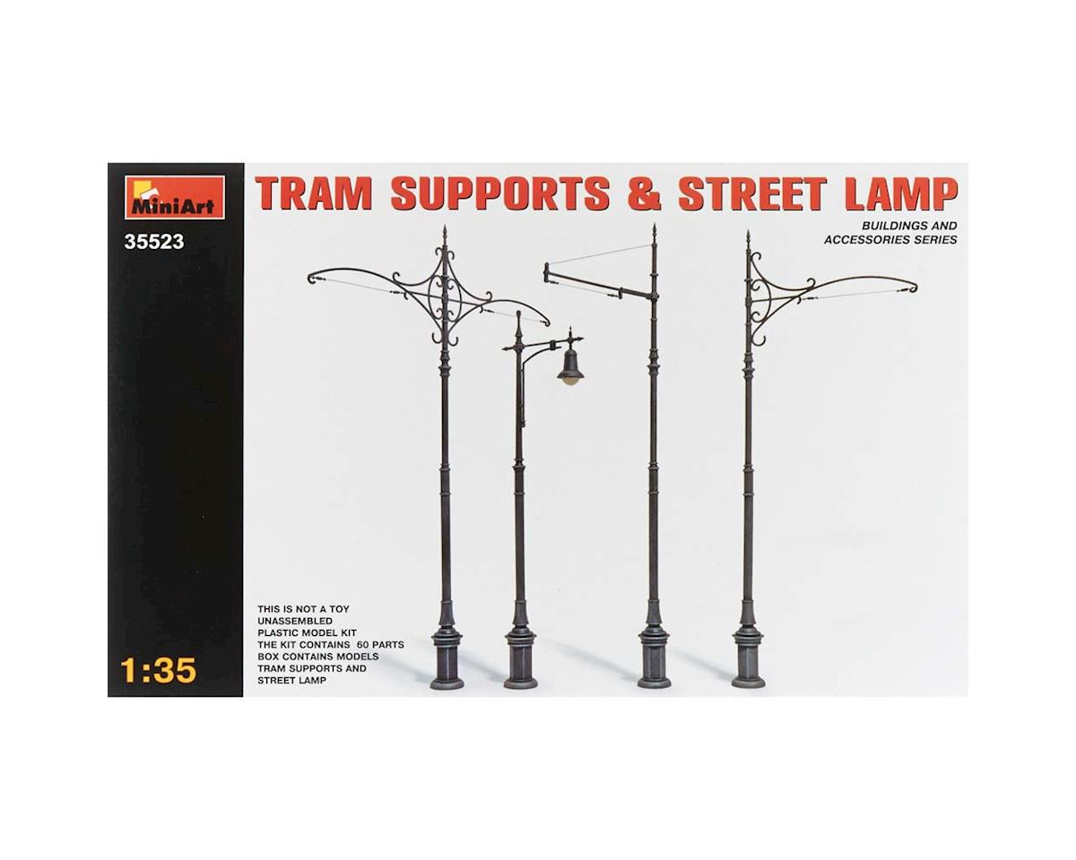 MiniArt 35523 1/35 Tram Supports (3) Street Lamp (1)