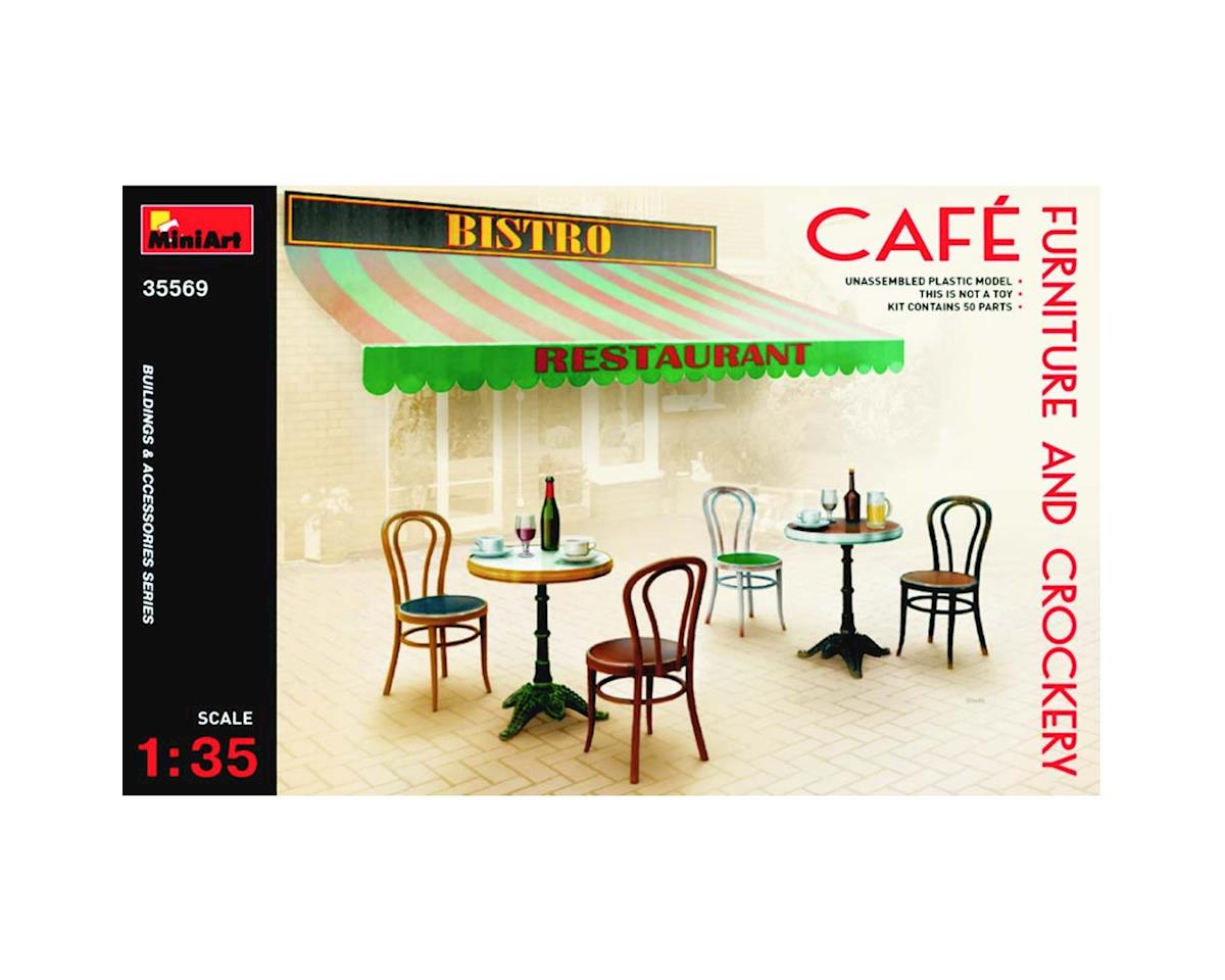 MiniArt 35569 1/35 Cafe Furniture Tables/Chairs w/Accessories