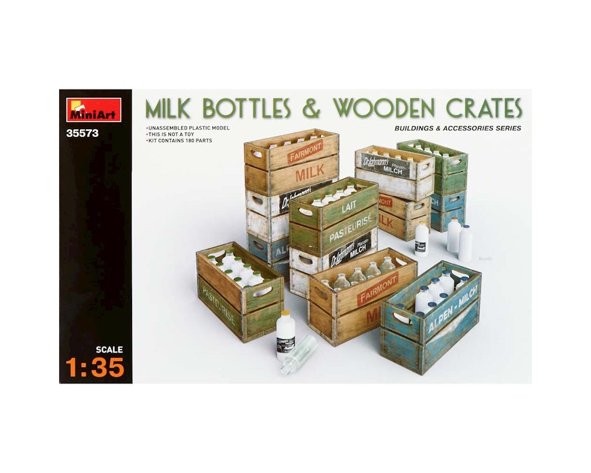 MiniArt 35573 1/35 Milk Bottles/Wooden Crates