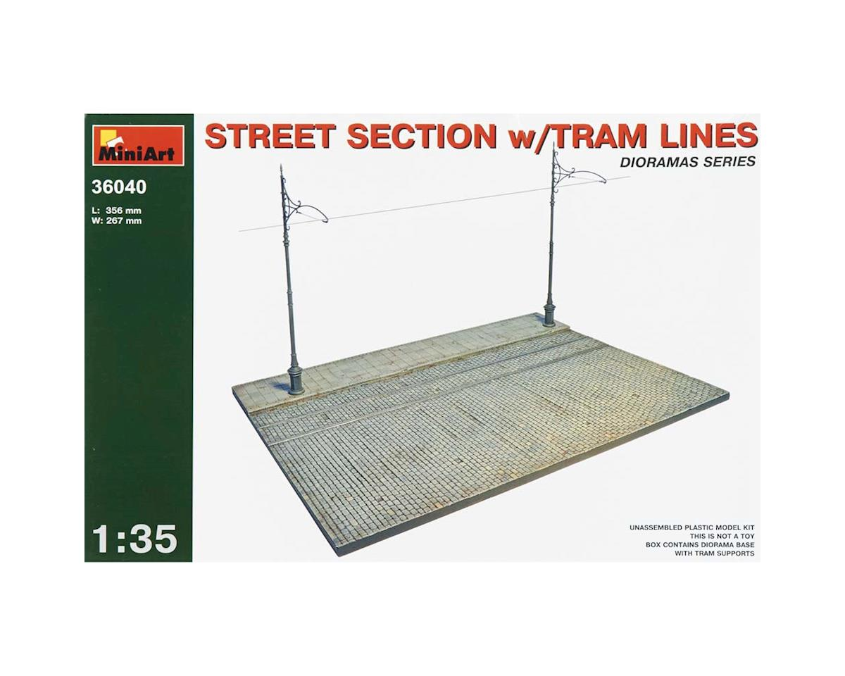 MiniArt 36040 1/35 Street Section w/Tram Lines for use w/38003