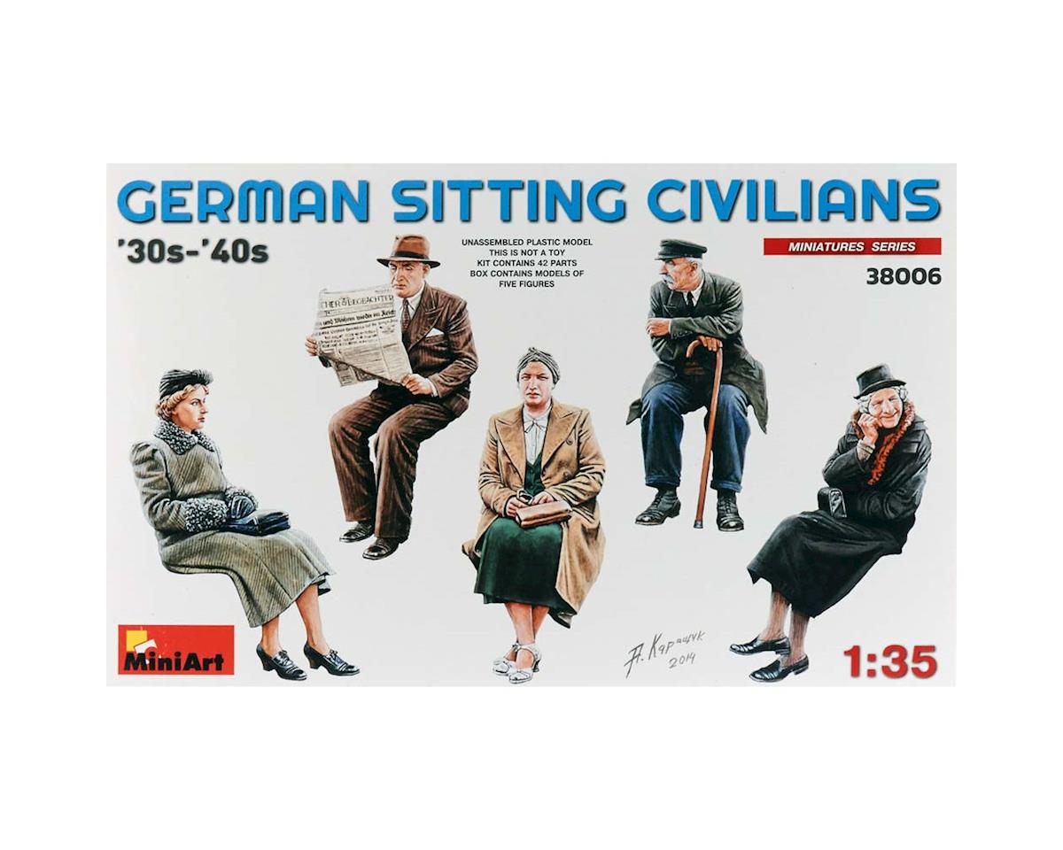 38006 1/35 German Civilians Sitting 1930-40s (5)