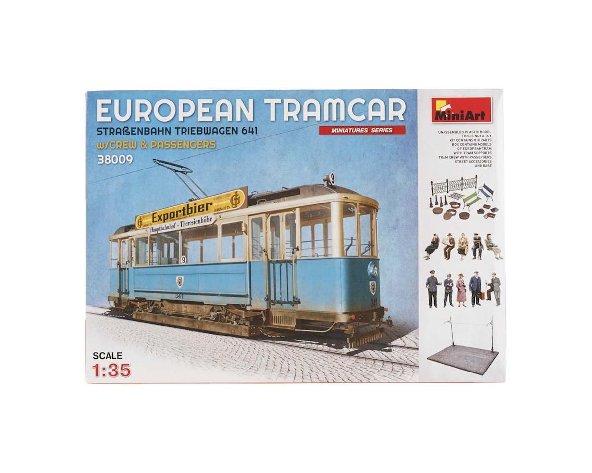 MiniArt 38009 1/35 European Tramcar w/Crew/Passengers