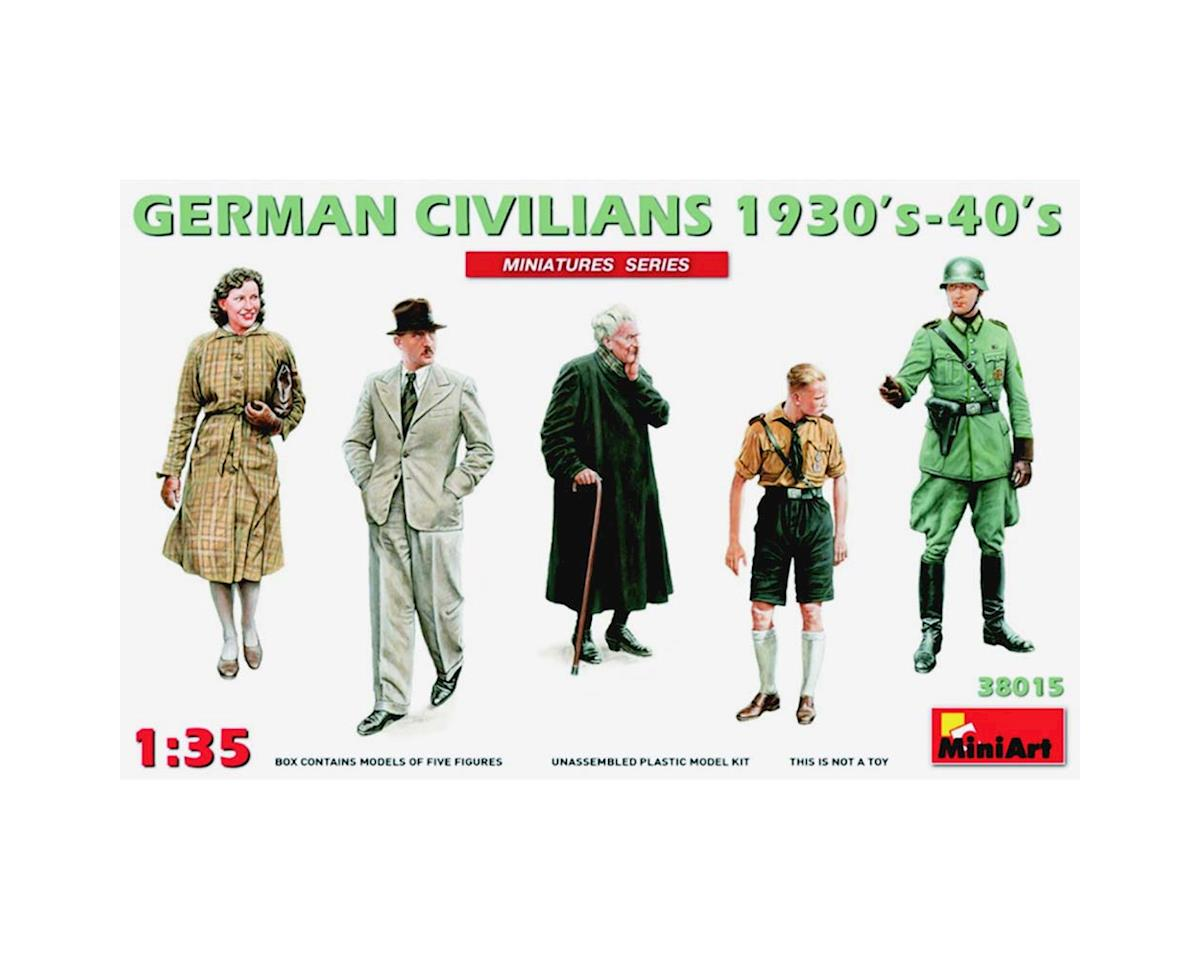 MiniArt 1/35 German Civillians(3) & Soldiers(2) 30s/40s