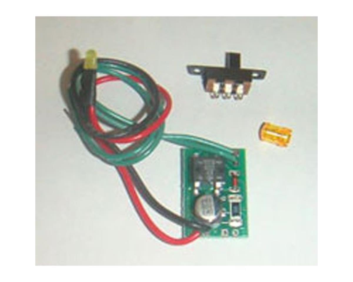 Miniatronics HO Roof Top Flasher Beacon Amber