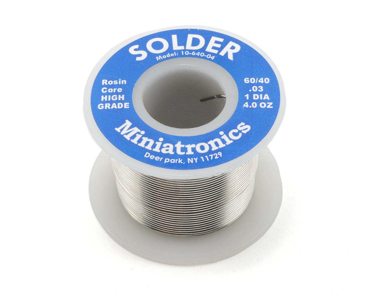 Rosin Core Solder 60/40 (4oz) by Miniatronics