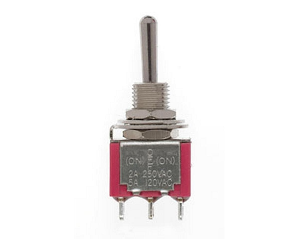 SPDT Mini Toggle Switch, Sprung 5Amp 120V (2) by Miniatronics