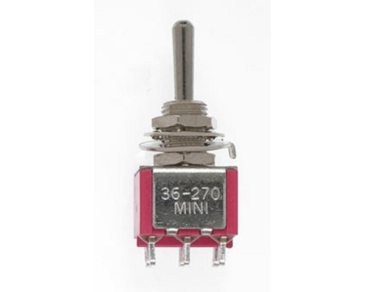 Miniatronics DPDT 5amp 120v Center Off-Momentary-Spring Return-