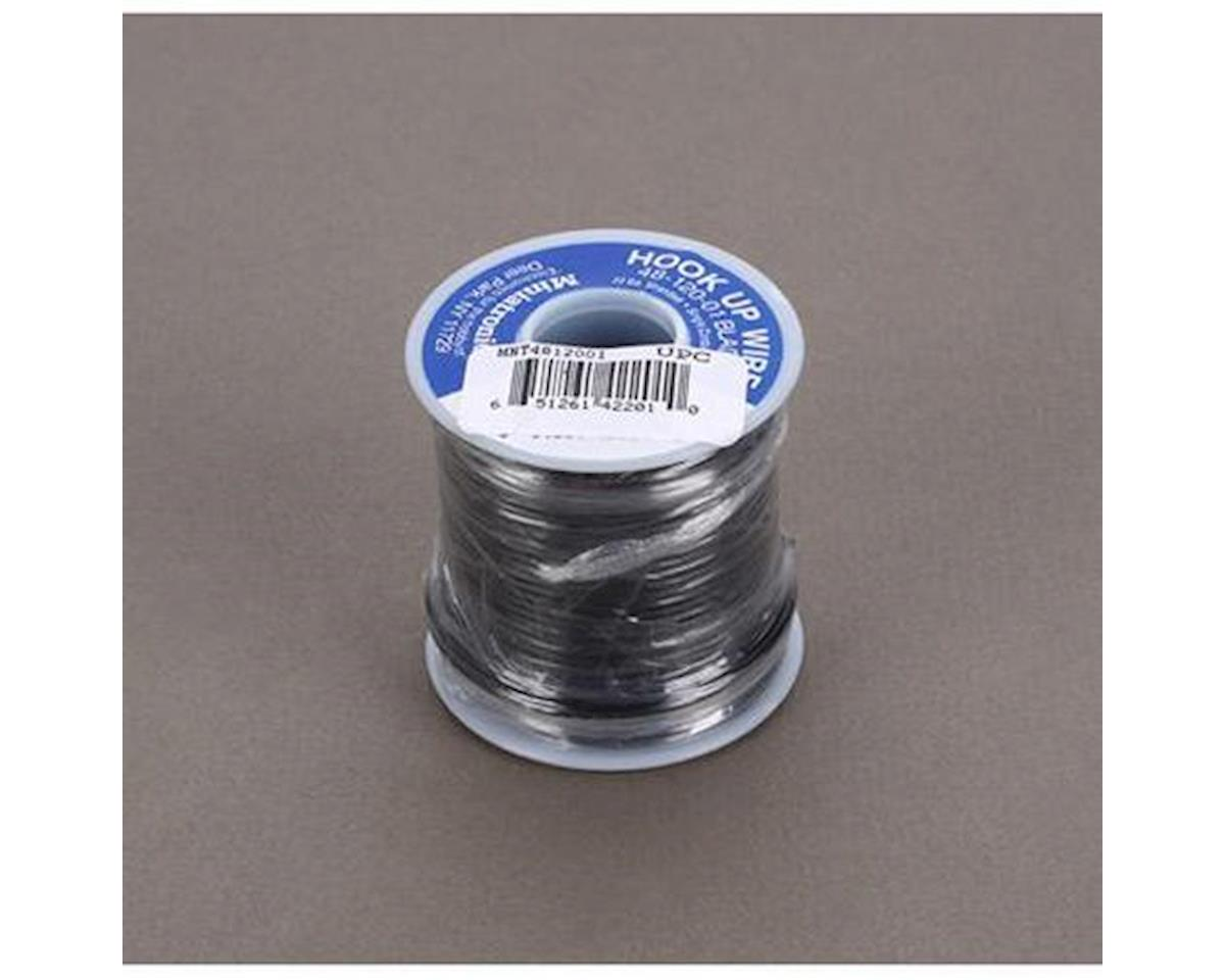 Miniatronics 100' Stranded Wire 22 Gauge, Black