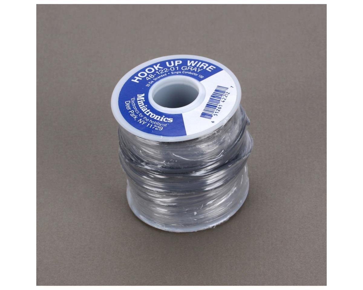 Miniatronics 100' Stranded Wire 22 Gauge, Gray