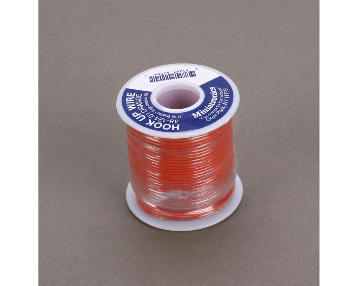 Miniatronics 100' Stranded Wire 22 Gauge, Orange