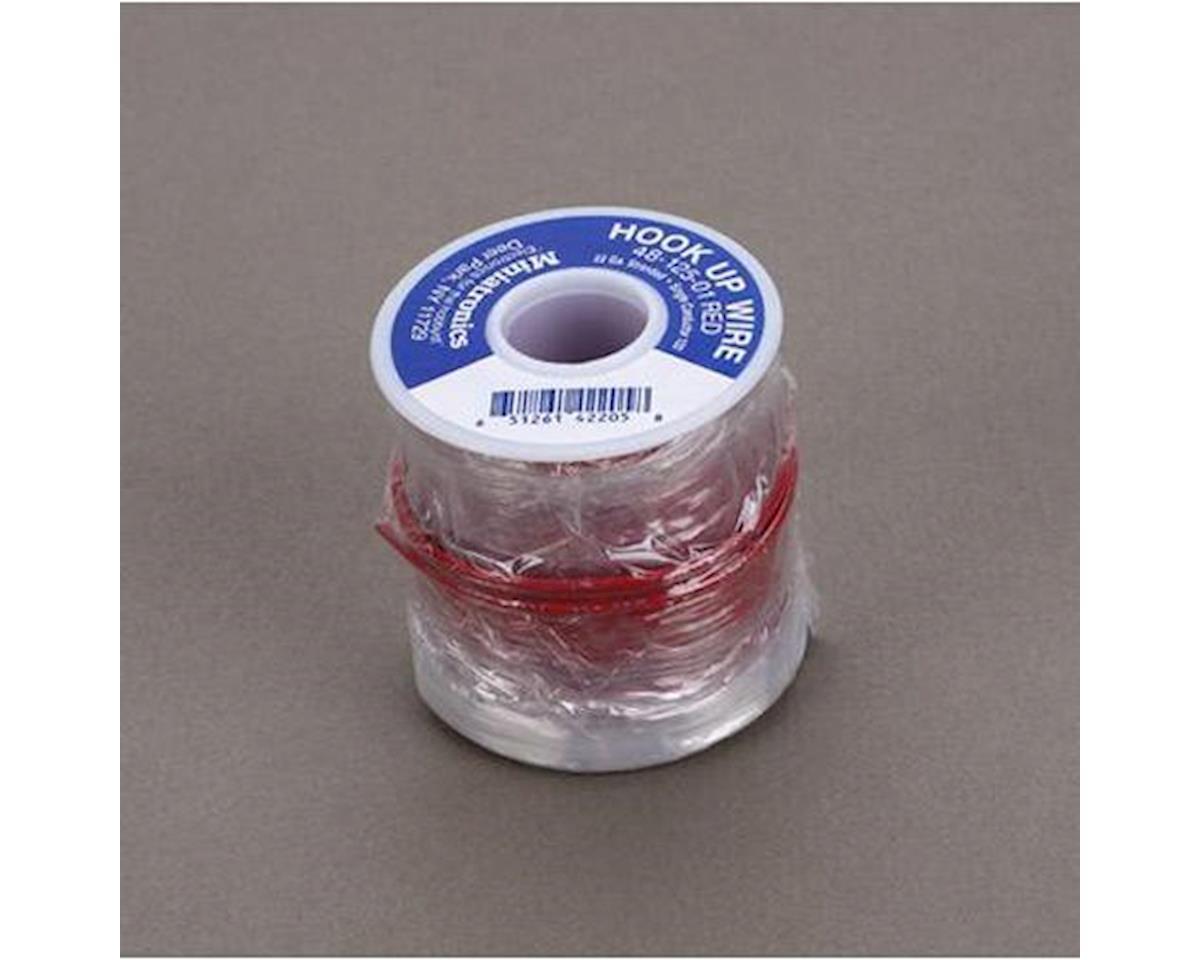 Miniatronics 100' Stranded Wire 22 Gauge, Red