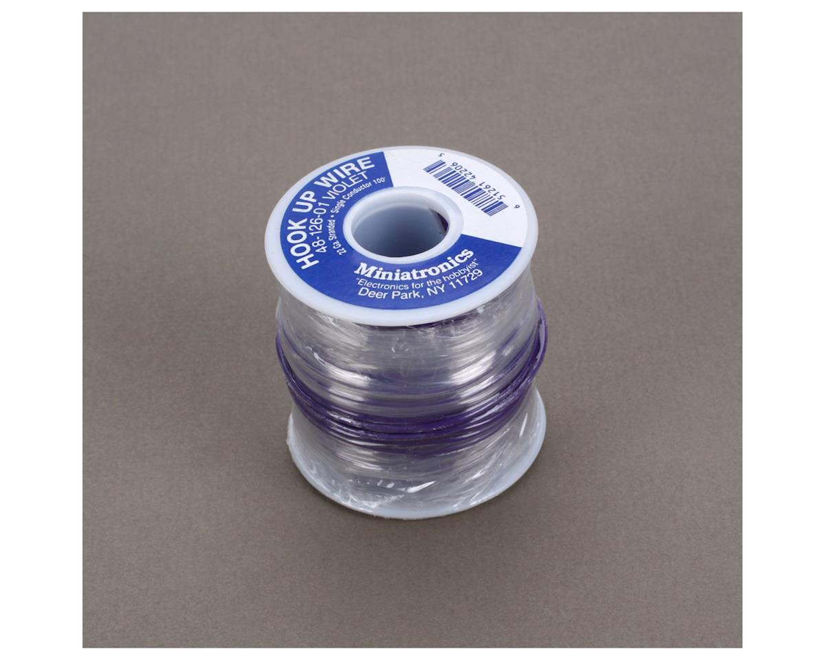 Miniatronics 100' Stranded Wire 22 Gauge, Violet