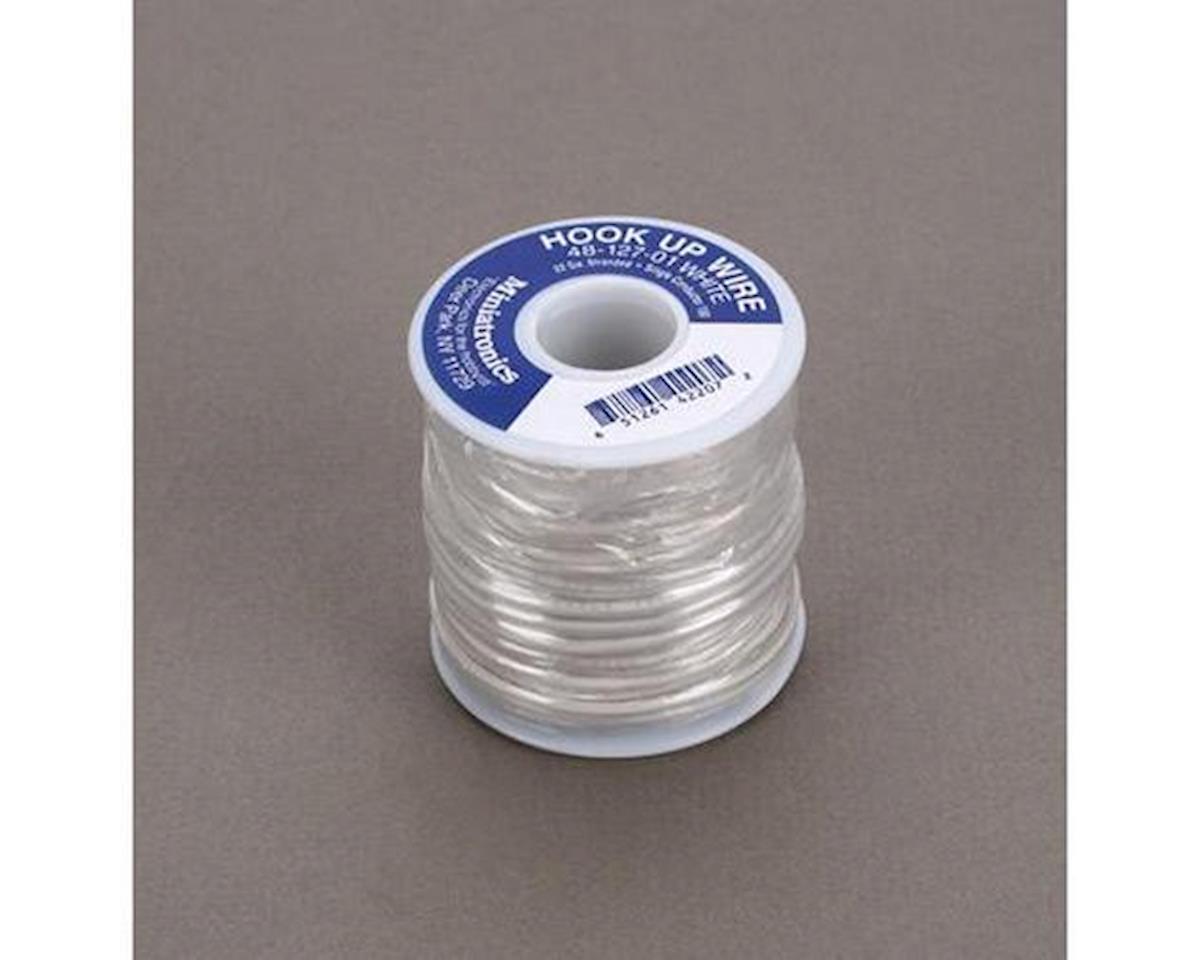 Miniatronics 100' Stranded Wire 22 Gauge, White