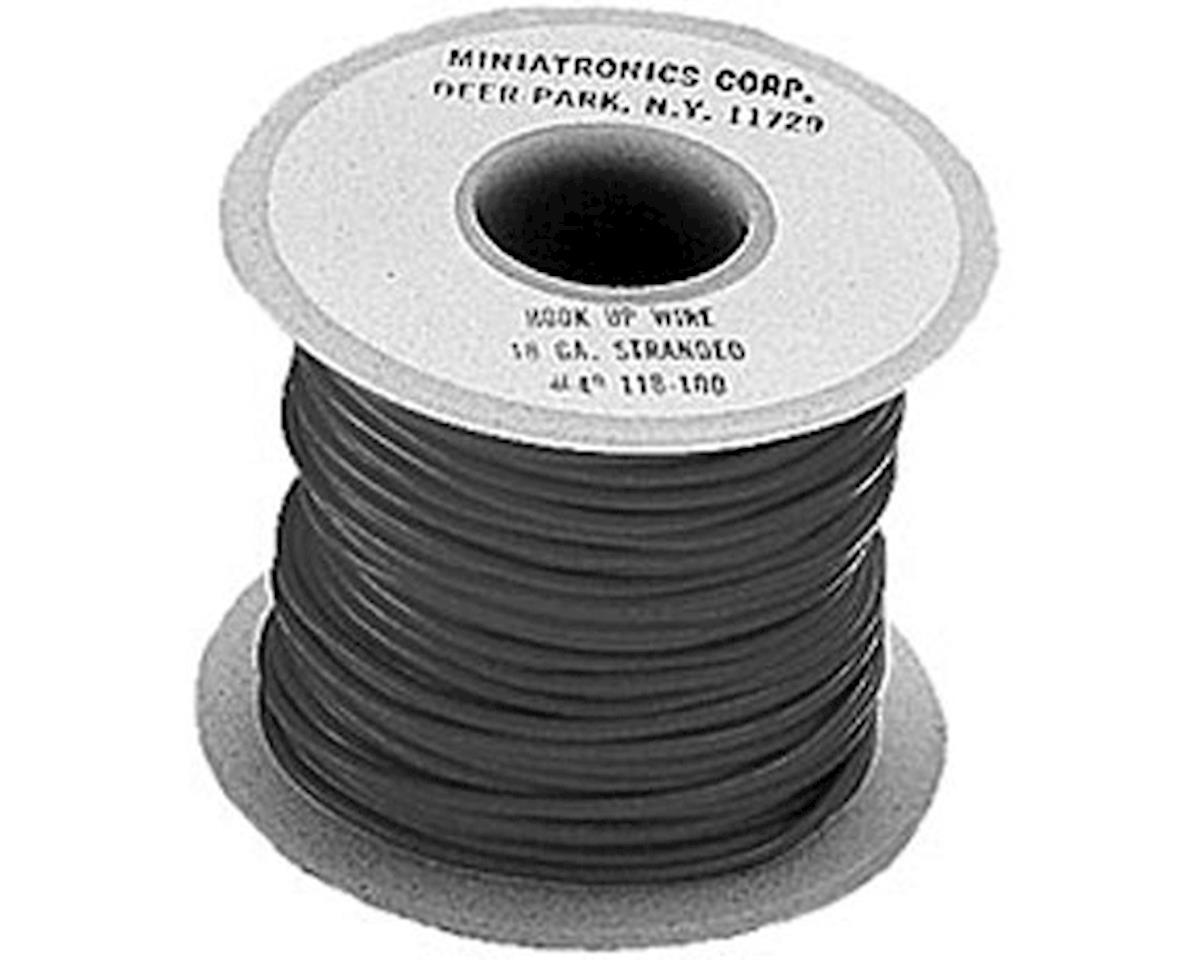 Miniatronics 100' Stranded Wire 18 Gauge, Black