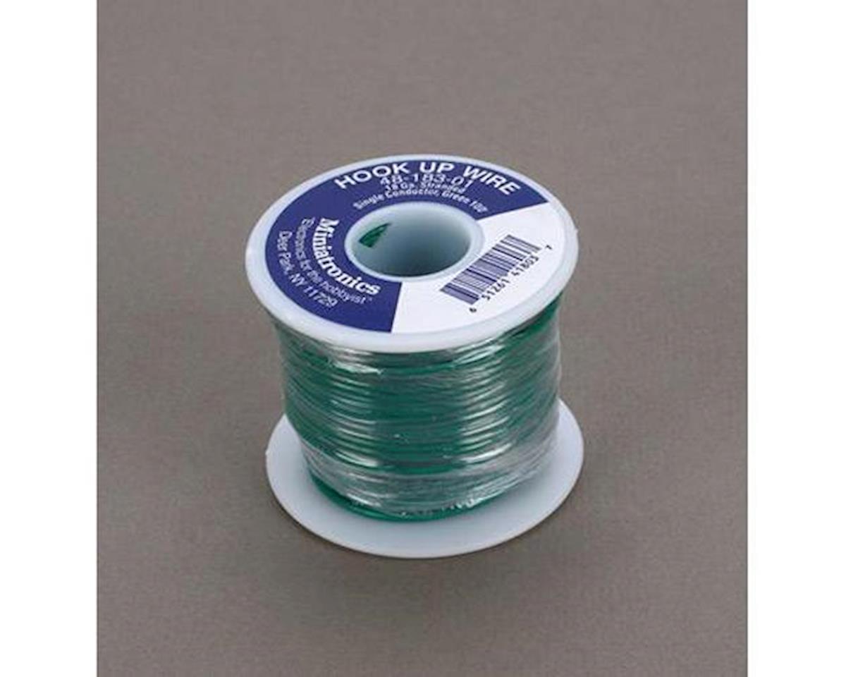 Miniatronics 100' Stranded Wire 18 Gauge, Green